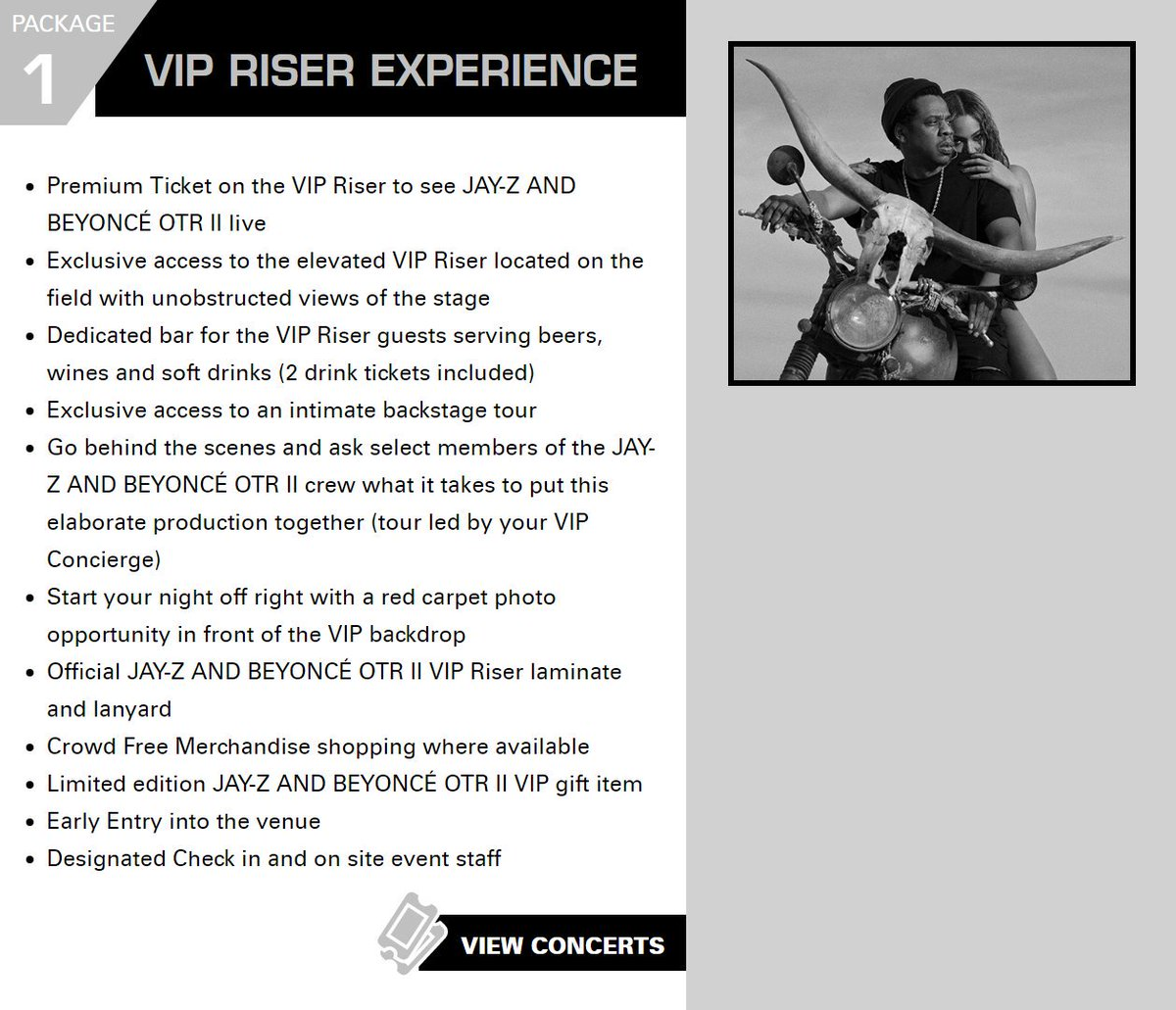 Beyonc Legion On Twitter Prices For European Vip Packages Https