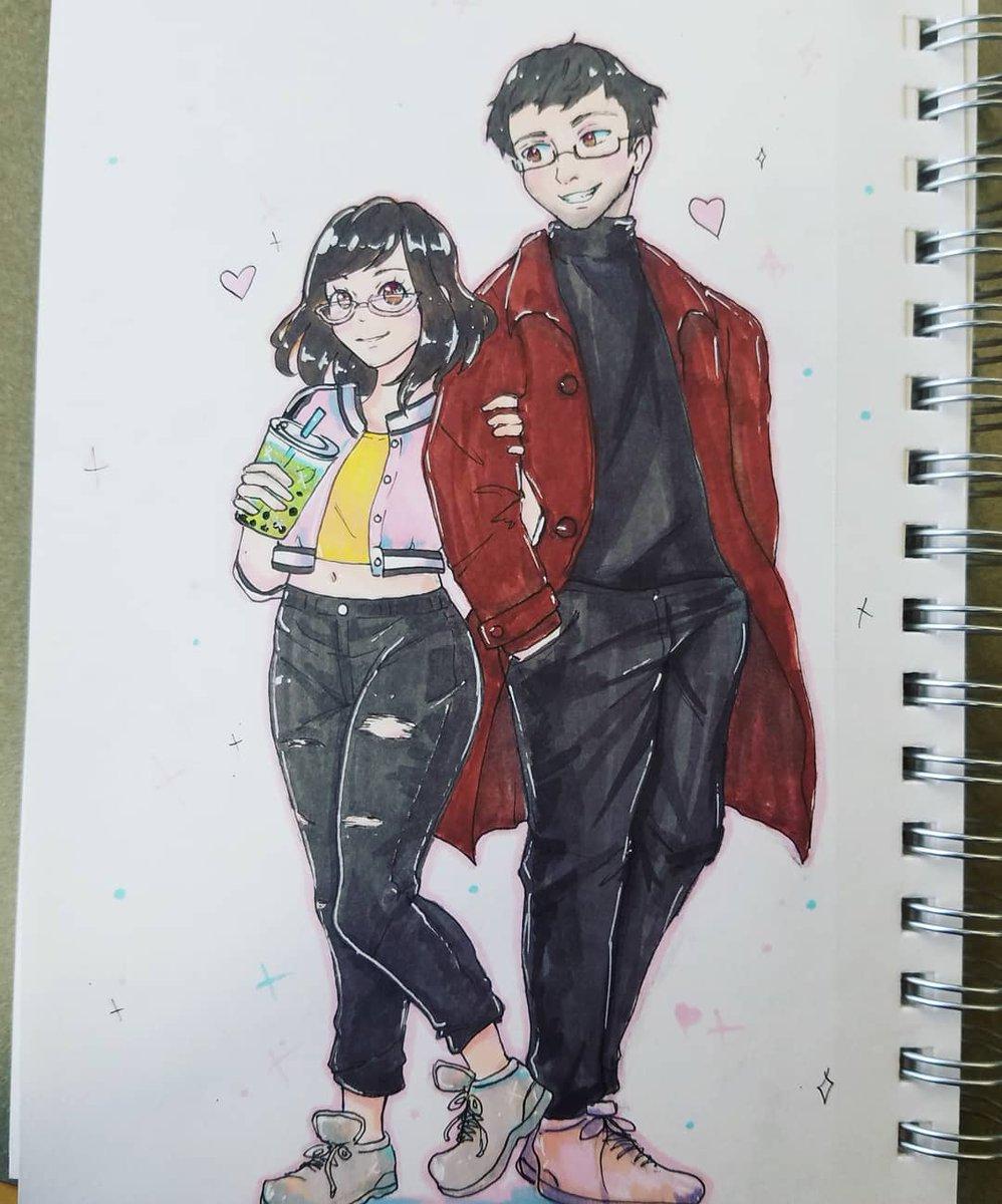 Cute chibi anime chibicouple animechibi drawing commissionsopen commission bright colorfulpic twitter com ek6fz78tr8
