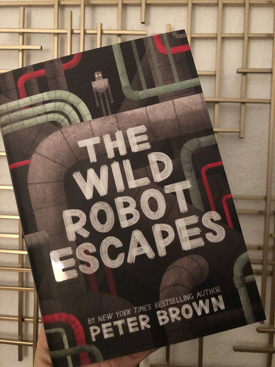 Look what @amazon delivered today! 🤖 I promised my class I wouldn't read it without them. It's gonna take some serious self control not to crack this open until Monday! 📖 #thewildrobot #roz  #brightbill #wildrobotescapes #readaloud #sequel #peterbrown