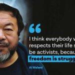 Freedom is struggle—@aiww