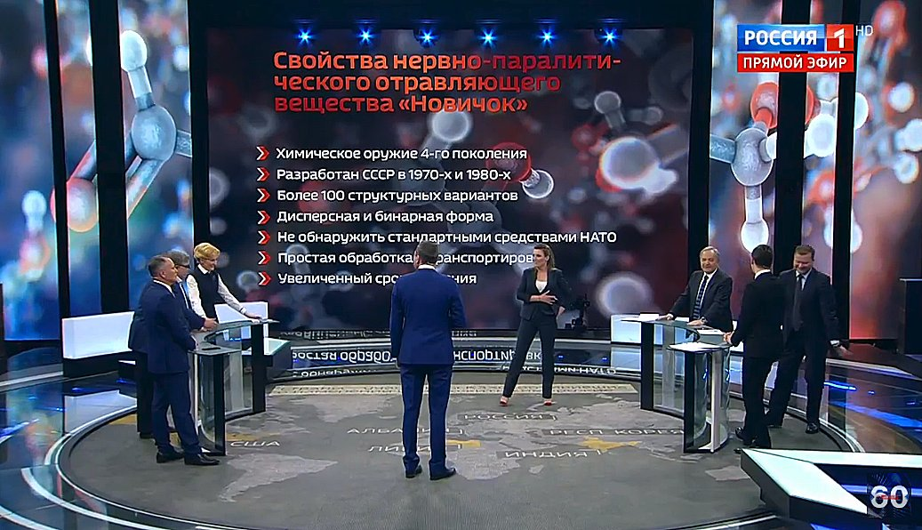 #Russias state TV presents #Skripal poisoning conspiracy theory No. 9: Ukraine did it to frame Russia. (Its so ridiculous that the host and panelists cant keep a straight face and burst out laughing.)