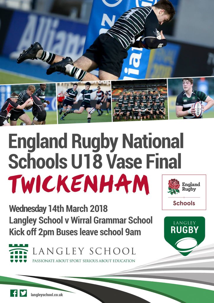MATCH DAY | The stage is set for our @SchoolsCup final at #Twickenham at 2pm. Safe travelling to everyone heading to the game. If you can't make it, the game is being streamed live via https://t.co/ziEDixoxYr #PassionateAboutRugby 🏉