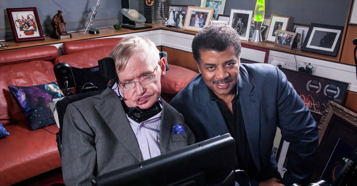 Tonight we have lost one of humanitys greatest minds... Stephen Hawking has died. Heres a photo of him with our host, @neiltyson. Credit: Brandon Royal.