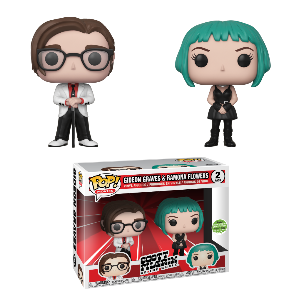 RT & follow @OriginalFunko for the chance to win an #ECCC 2018 exclusive Gideon Graves and Ramona Flowers Pop! 2-pack!