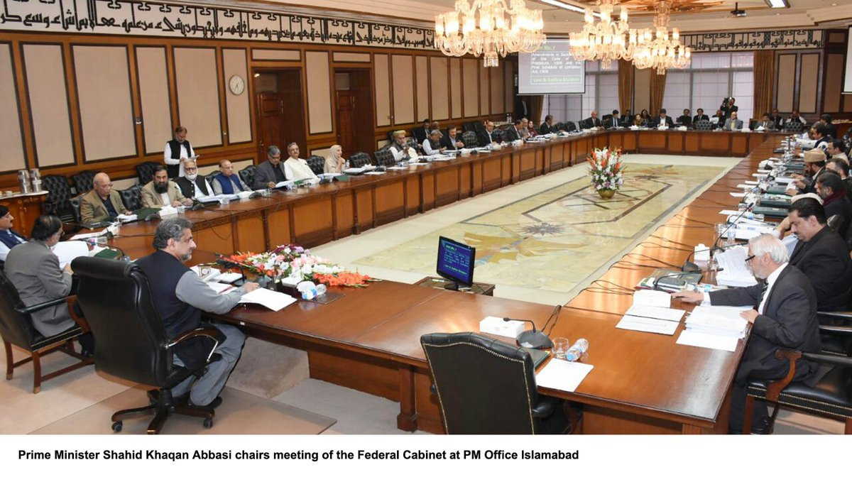 The Decision Was Taken In The Cabinet Meeting Which Was Held In Islamabad  With Prime Minister Shahid Khaqan Abbasi In The  Chair.pic.twitter.com/elQD2dZLpJ