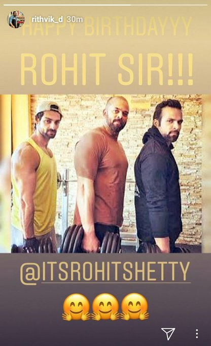 Instagram Story wishing Rohit Shetty a very Happy Birthday