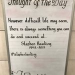 Wednesday 14th March Thought Of The Day From Oval Station      RIP Stephen Hawking 1942 - 2018 #stephenhawking