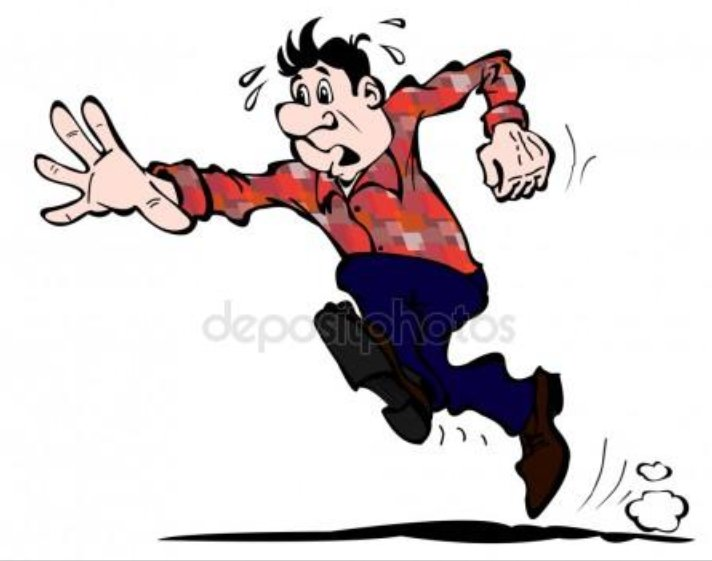 Картинка бегущего человека прикол
