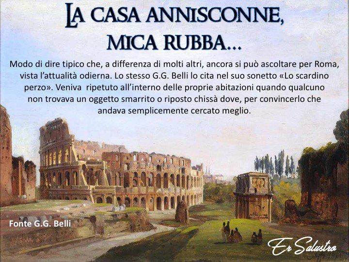 #RomeIsUs #Roma #dialettoromanesco Quanno èrimo rigazzini, quante vòrte, svoijatamente, amo detto a quarche parente: Ahò, e io mica lo trovo sa... e questa era la risposta classica, regolare e immediata che sarimediavamo... mì nonna sempre!!!