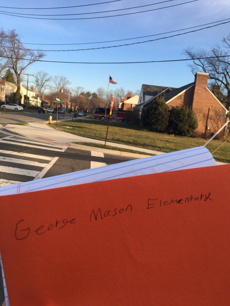 Covering a walkout this morning at an elementary school in Virginia, and the 11-year-old organizers had a press packet ready for me.