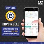 Image for the Tweet beginning: Buy and sell Bitcoin Gold