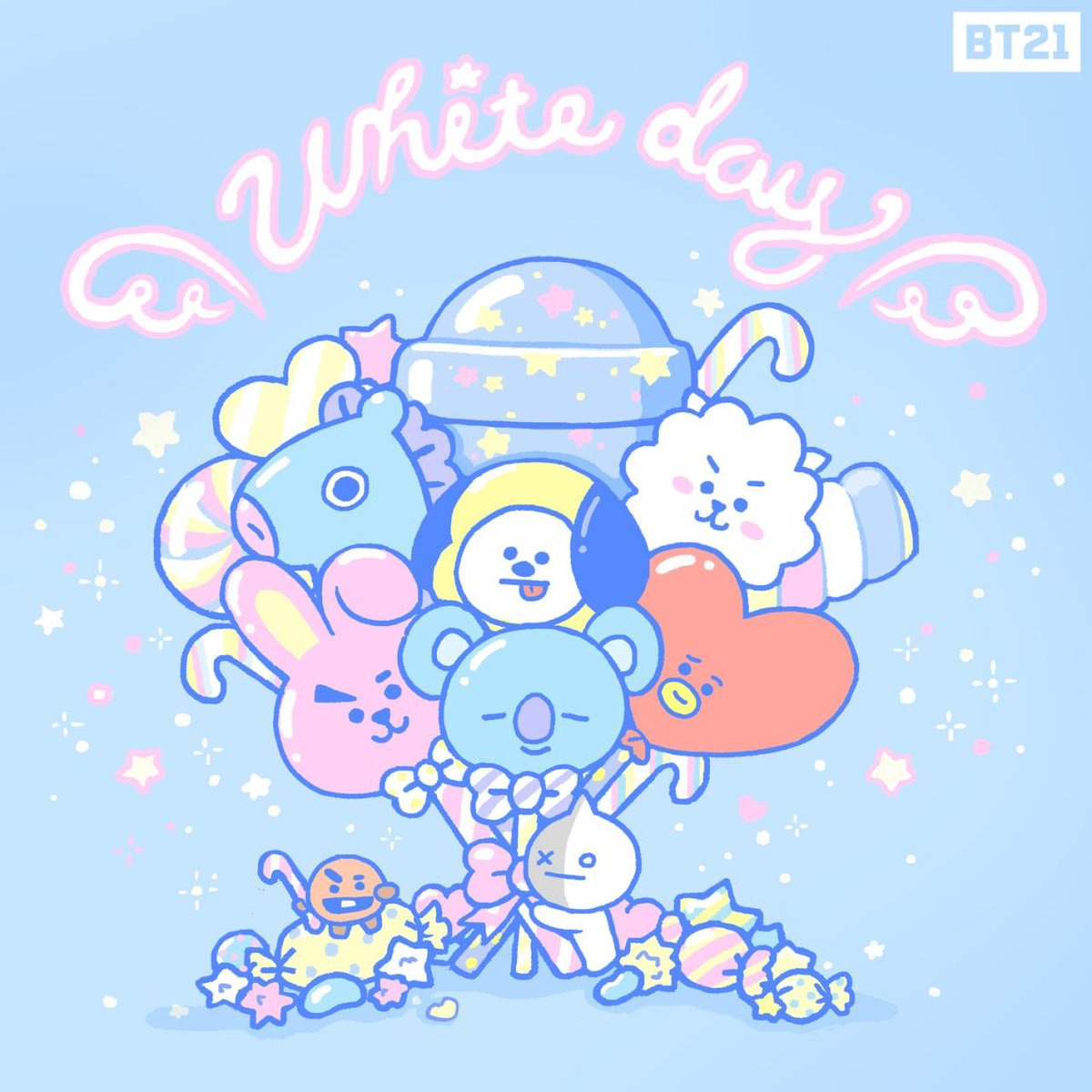 For you💐🍭🍬🍫🍡  #BT21 https://t.co/pKlAEWG...