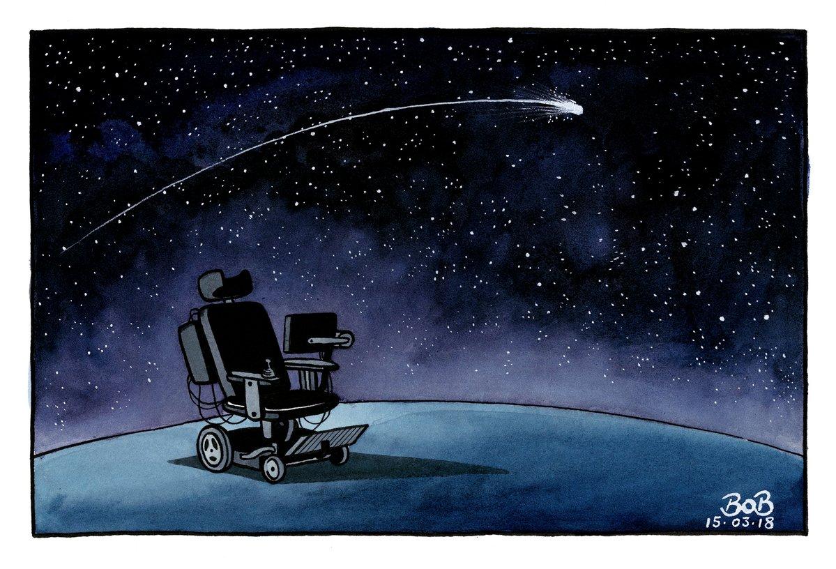Cartoon by @bobscartoons #RIPStephenHawking