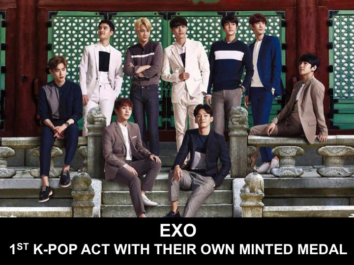 #EXO is 1st K-Pop Act to have their own Official Commemorative Medal from The Korean National Mint!👏1⃣🇰🇷🕺🕺🕺🕺🕺🕺🕺🕺🕺🥇👑🌟 https://t.co/e0qQ4BJl0c