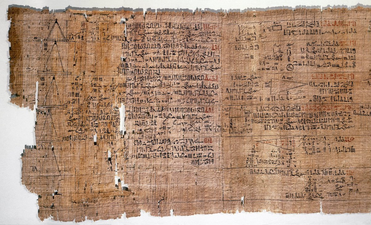 This ancient Egyptian mathematical papyrus is 3,500 years old and shows an approximation of π! #PiDay ow.ly/jJAH309SZ4Z #BSW18