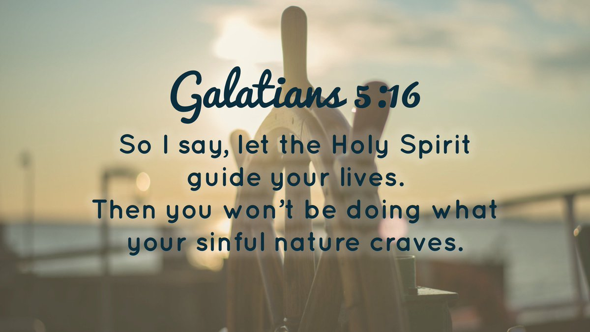 let the holy spirit guide your lives
