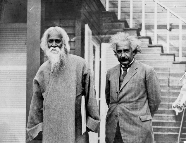 @AlbertEinstein, born #OnThisDay in 1879, met fellow #NobelPrize Laureate Rabindranath Tagore at his home in Berlin in 1930. They explored the concepts of science, religion, consciousness, and philosophy.  Read an excerpt from their conversation: goo.gl/jYc9Kp