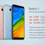 "#Redmi5 launched in India (1st flash sale on 20th March via @AmazonIn ) Specs: 5.7"" 18:9 HD+ display Snapdragon 450 12MP rear camera with LED Selfie-light 3300 mAh https://t.co/lGM9fg265q"