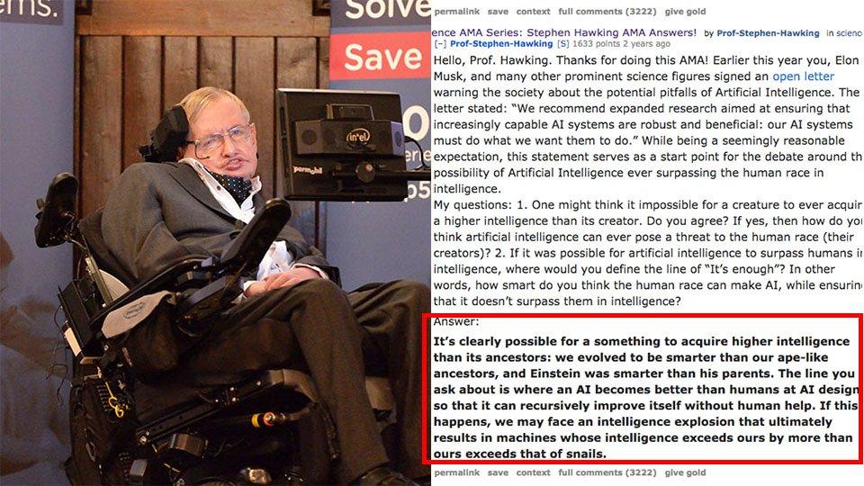 Here are the last things Stephen Hawking wrote on Reddit https://t.co/52nbNcV4hq https://t.co/DmnDR95PRv