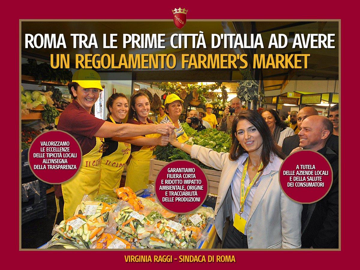 .@Roma tra le prime città dItalia ad avere un regolamento farmers market. Valorizziamo l'eccellenza delle tipicità locali all'insegna della trasparenza. Garantiremo filiera corta e ridotto impatto ambientale, origine e tracciabilità delle produzioni: goo.gl/LfQTTY