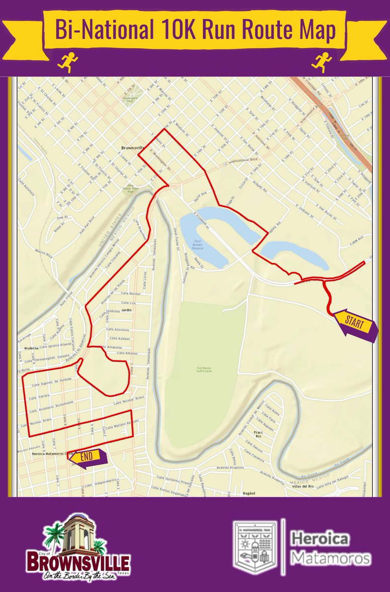 City of Brownsville on Twitter The BiNational 10K 5K Run is