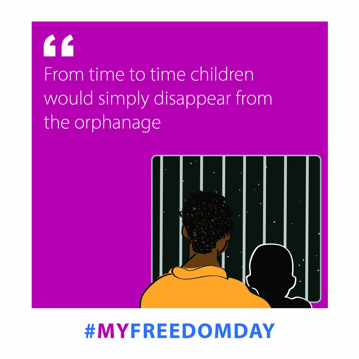 Many orphanages traffic and exploit the children they are supposed to be caring for. Learn more here #MyFreedomDay bit.ly/2Ducxni