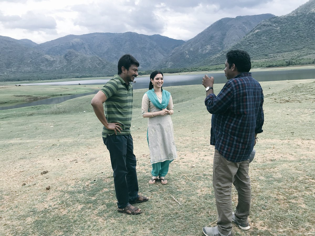 Happy that we worked together atlast, always wanted to @Udhaystalin , it felt at home shooting with you sir @seenuramasamy thank u so much 🙏