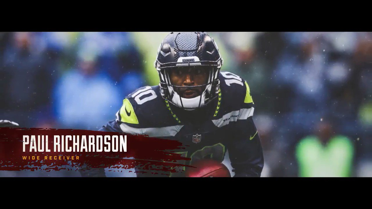 It's Official: #Redskins sign WR Paul Richardson. #HTTR  Welcome to D.C., @prichiejr: https://t.co/hXXnhC90h2 https://t.co/be8ynh1OkF