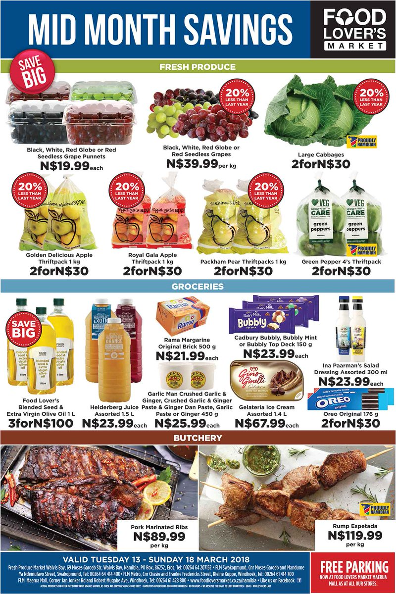 Specials namibia on twitter food lovers market specials 13 march specials namibia on twitter food lovers market specials 13 march 18 march 2018 food lovers market namibia httpst4sfkdwtm12 foodloversmarket forumfinder Image collections