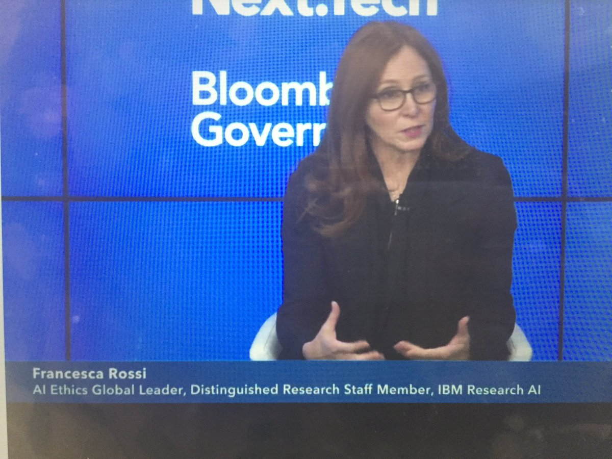 Transparency and trust are foundational to progressing responsible AI -- @frossi_t of #IBMResearch #AI, #AIEthics #DataResponsibility #BloombergNext <br>http://pic.twitter.com/o3gCTFWUX4