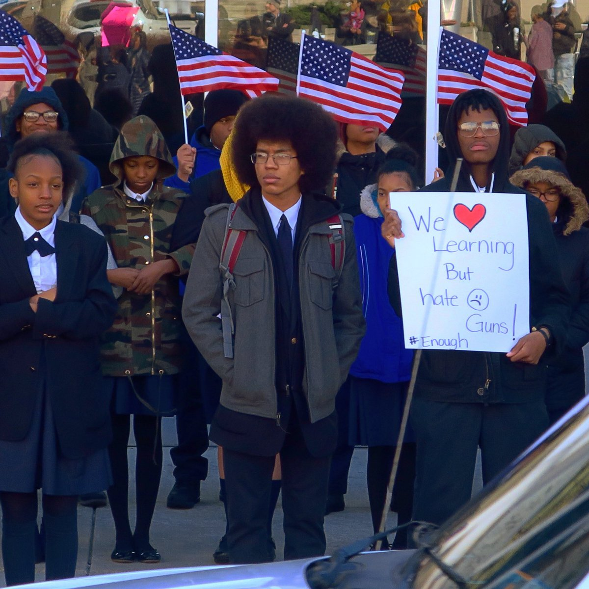 School Students Take To Streets To Protest Against Gun: Mike Manning (@ravmike)