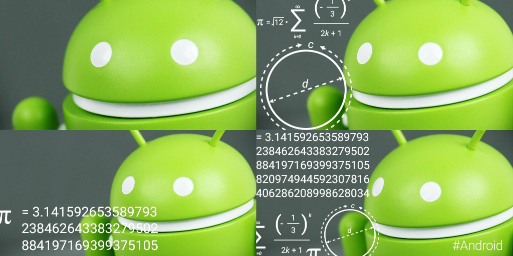 Calculating the circumference of an #AndroidOreo like… Happy #PiDay!