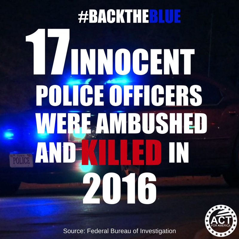 The war on police has deadly consequence...