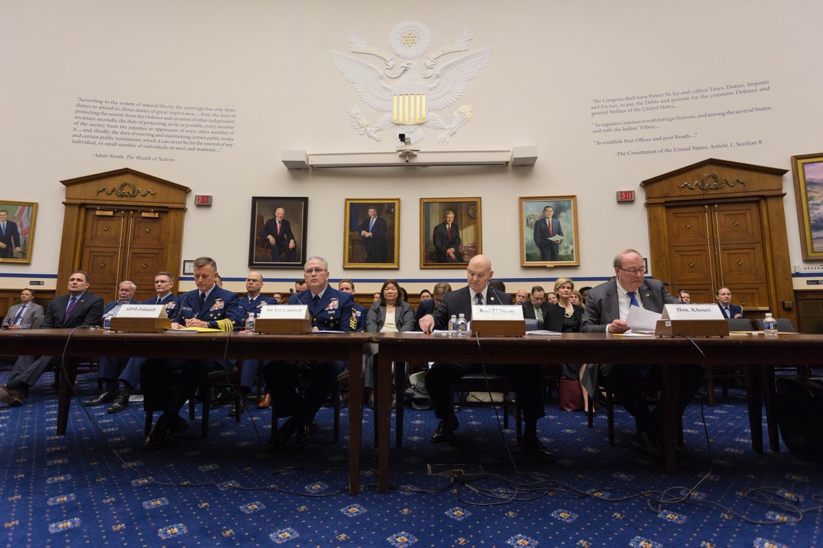Scenes from this morning's Coast Guard hearing. @USCG #infrastructure #hearing @RepDuncanHunter