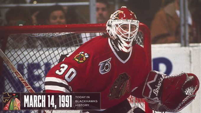 On this day in 1991, rookie Ed Belfour earned his 39th victory