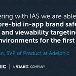 NEW: #Adelphic integrates @integralads' targeting data to provide marketers with the transparency & targeting they need to best optimize #mobile campaigns: https://t.co/JZJrAwosIW
