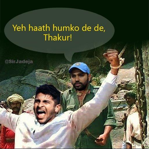 Image result for shardul thakur meme