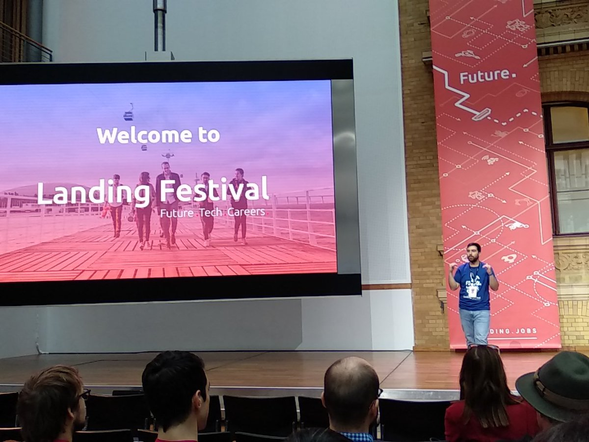We are today at the awesome #landingFestival. Quite excited to meet new devs! https://t.co/2oY5RUTE79