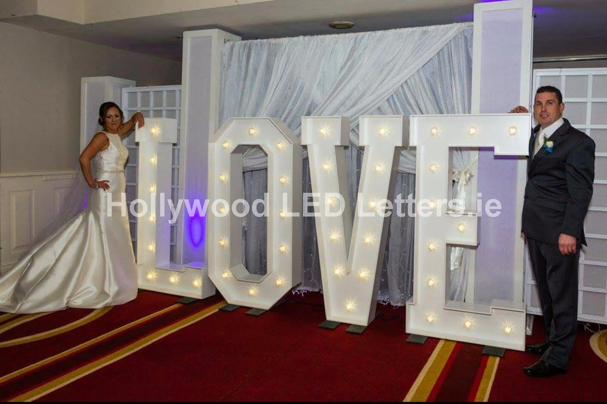 Hire 1.5metre high #giantLEDletters for your #wedding #weddingday and get #WeddingPlanning today! #hollywoodledletters #Ireland delivery nationwide #StPatricksDay #StPatricksDay2018 #LightUpTheLOVE or get your #nameinlights #lightupletters #eventprofs <br>http://pic.twitter.com/MBXCcKaujC