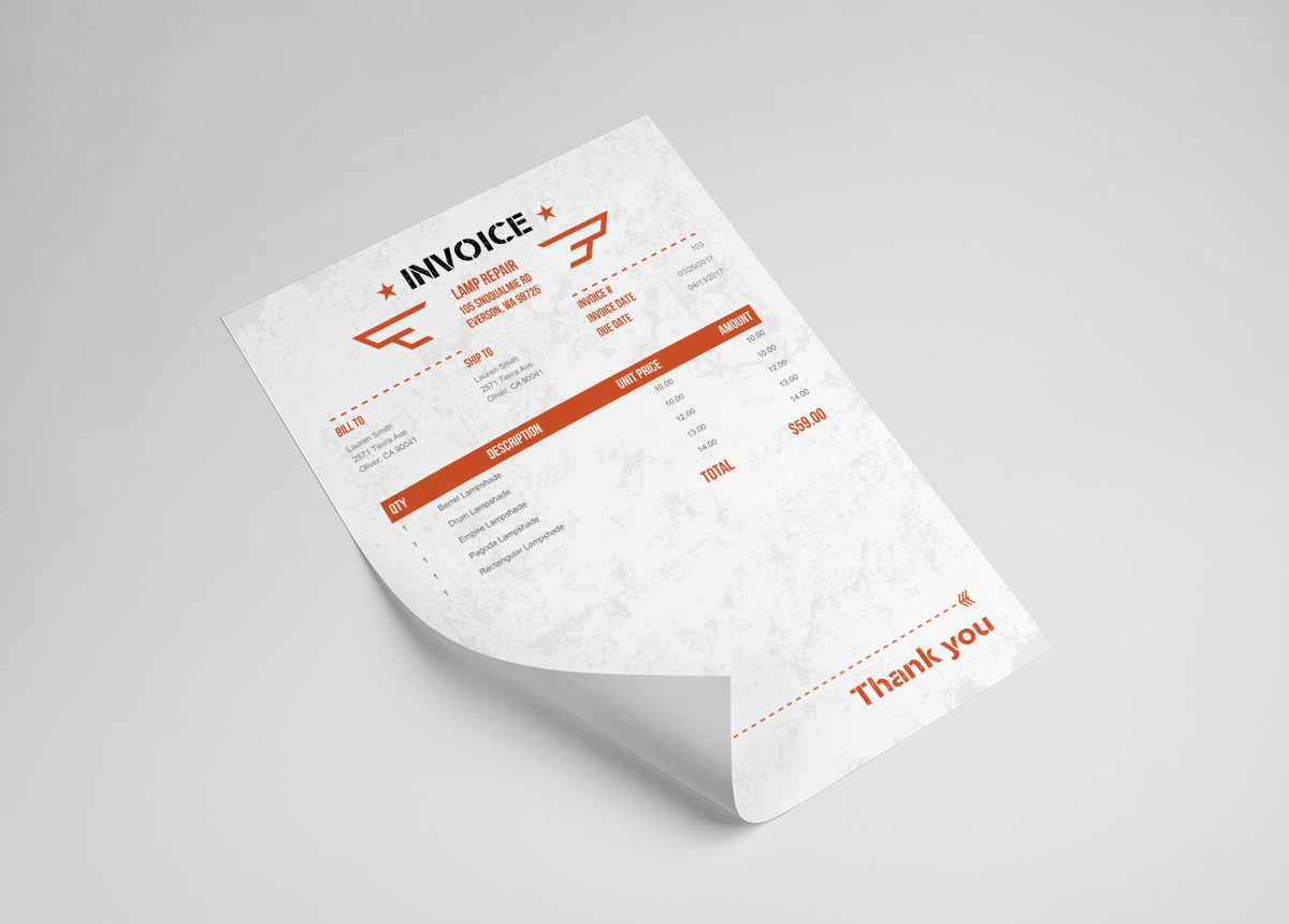 invoice home on twitter customize your invoice to fit your