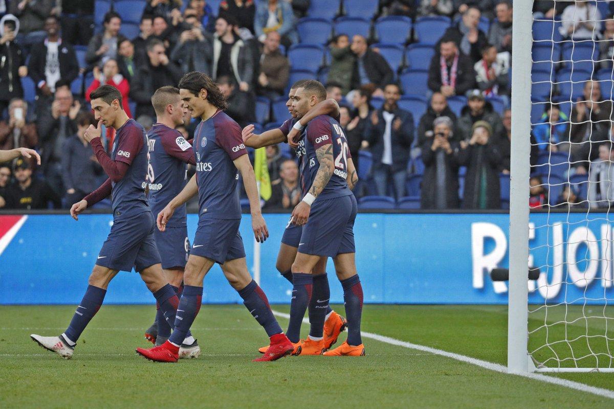 Time parisiense, a passos largos para o título tranquilo da Ligue 1 (Foto: Twitter PSG)