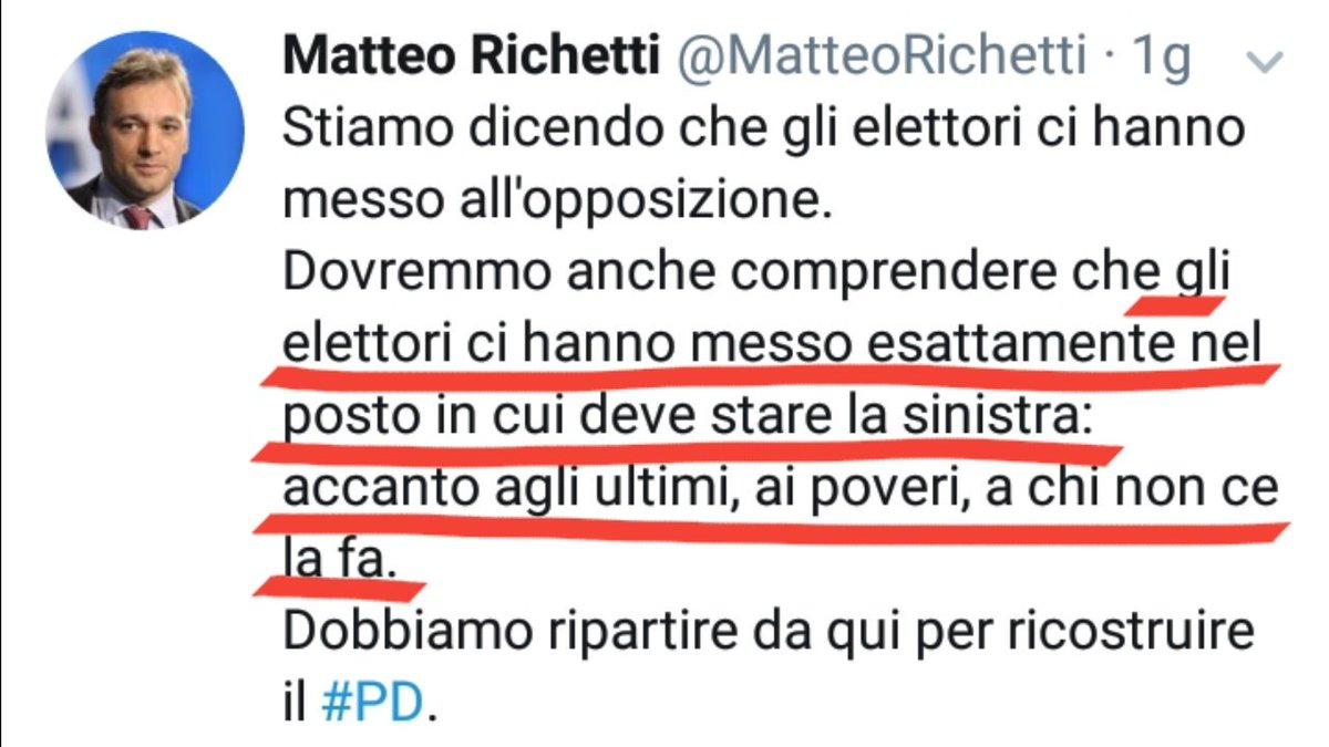 """#richetti: """"gli elettori ci hanno messo esattamente \"""