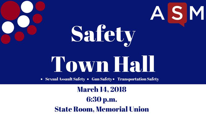 **TONIGHT** Join @WiscChief, Chief Koval from @madisonpolice, and others at @asmstudentgovts Safety Town Hall. State Room at Memorial Union...6:30pm...be there! Rumor: theyre serving PIE for Pi Day! More info >> facebook.com/events/2122293…