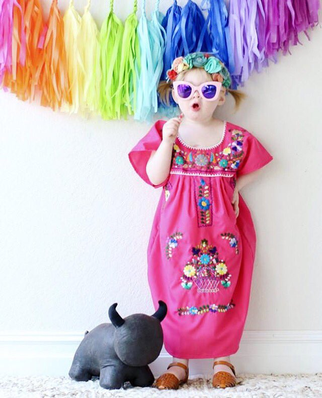 Mucho Dress Mexicandress Handmade Embroidery Wednesday Fashion Modern Mexican Style Clothing Accessories Homedecor Online