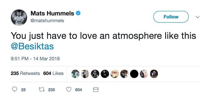 Mats Hummels twitter.