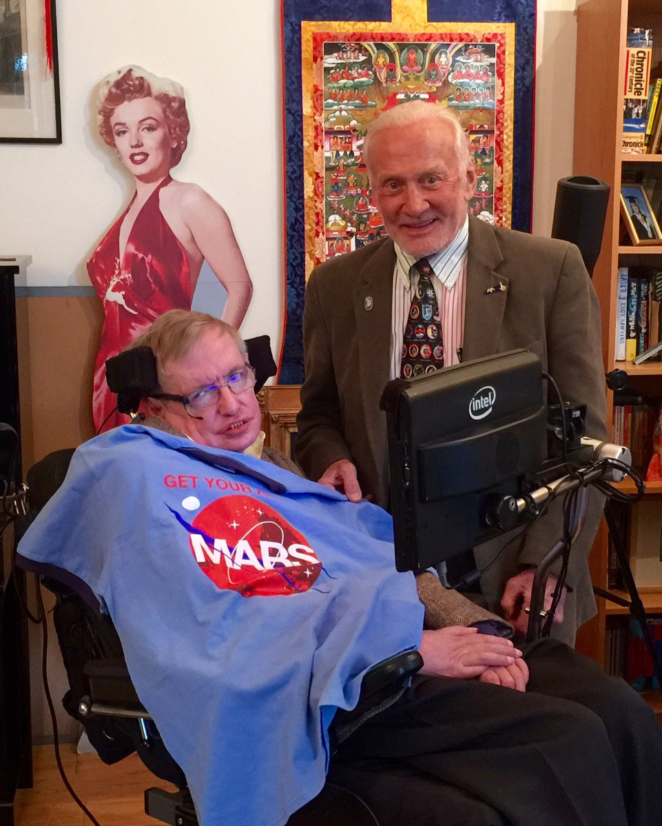 We lost one of history's greatest minds who helped us explore the deepest mysteries of the universe. I'm proud to have called Stephen Hawking my friend. The world needs more men like him. Not less. Godspeed and I hope you're hanging out with Marilyn Monroe.  #RIPStephenHawking