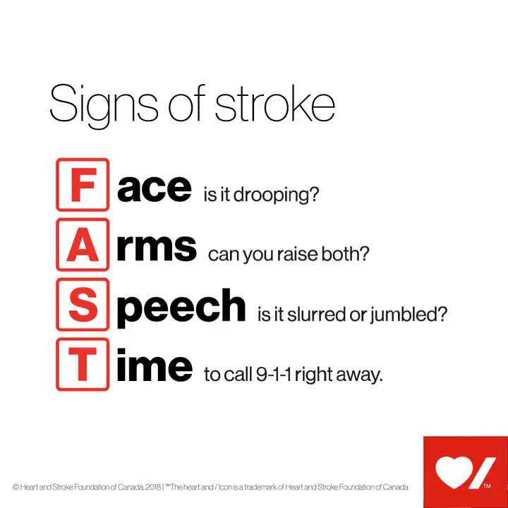 F.A.S.T. is a program designed to help you recognize the signs of #stroke, so you can act quickly when every second counts.