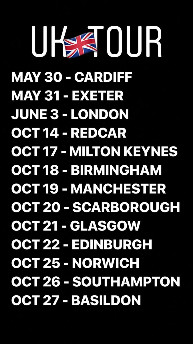 The UK Tour keeps growing!  Tickets at h...