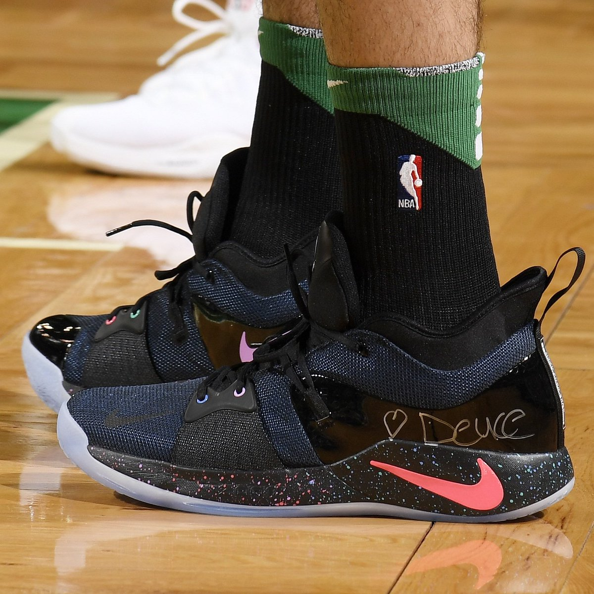 68350b776dc jayson tatum in the playstation pg2 gives a shout out to his son
