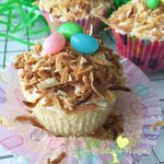 Image for the Tweet beginning: Toasted Coconut Cupcakes are light,